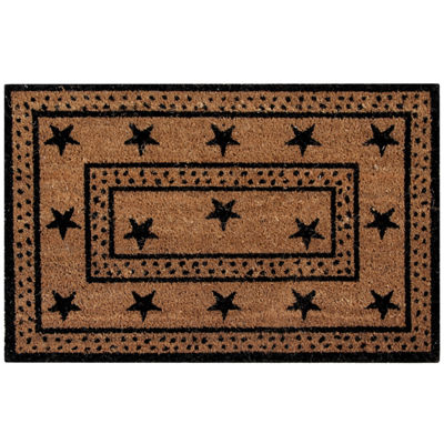 Better Trends Star Coir Rectangular Doormat