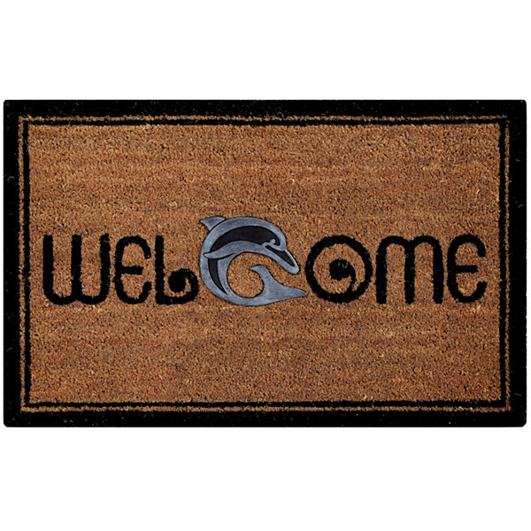 Better Trends Dolphin Coir Rectangular Doormat