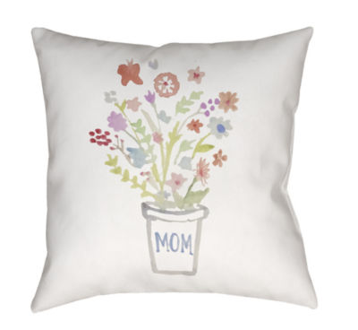 Decor 140 Flowers For Mom Square Throw Pillow