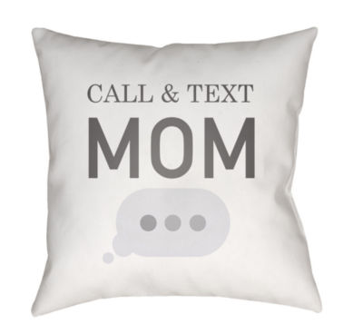 Decor 140 Text Me Back Square Throw Pillow