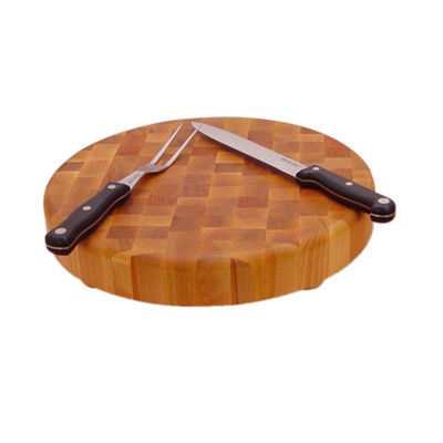 "14"" Round End Grain with Feet Cutting Board"