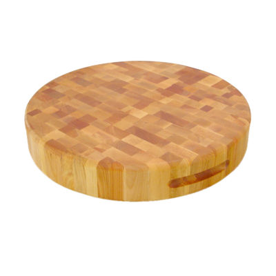"17"" Round Slab Endgrain Cutting Board"