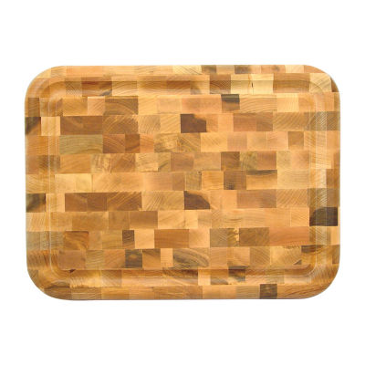 Reversible End Grain with Groove Cutting Board