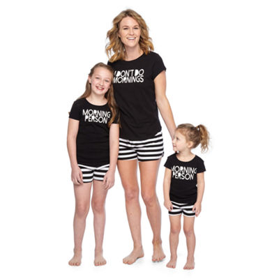 City Streets Womens Shorts Pajama Set 2-pc. Short Sleeve Mommy and Me