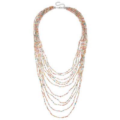 Decree Womens Brass Strand Necklace