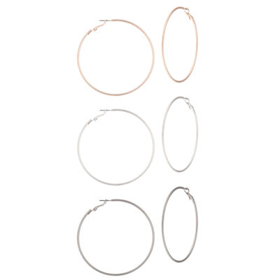 Decree Brass 35mm Hoop Earrings