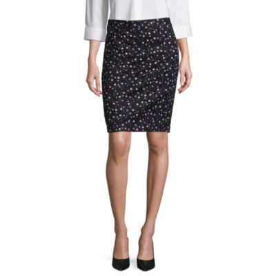 "Liz Claiborne® Pique Pencil Skirt - Tall 23.5"""