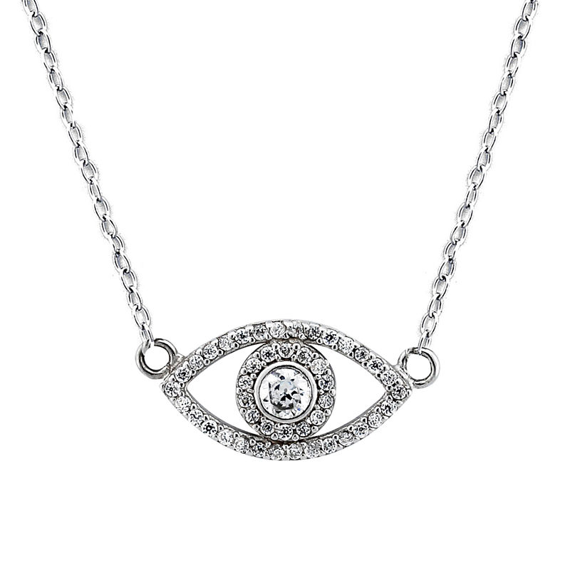 image of Diamonart Womens 5/CT. T.W. White Cubic Zirconia Sterling Silver Pendant Necklace-ppr5007554773