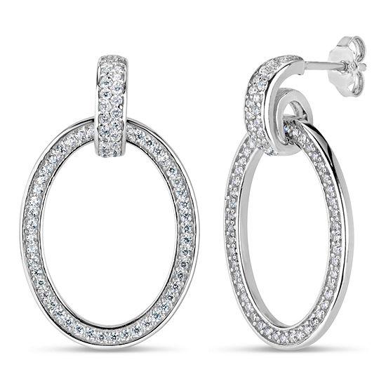 DiamonArt® 1 CT. T.W. White Cubic Zirconia Sterling Silver 25.4mm Stud Earrings