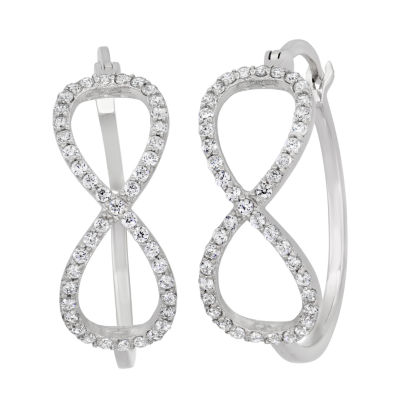 Diamonart 1 CT. T.W. White Cubic Zirconia Sterling Silver 21.6mm Stud Earrings