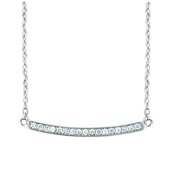 Diamonart Womens 1/3 CT. T.W. White Cubic Zirconia Sterling Silver Pendant Necklace