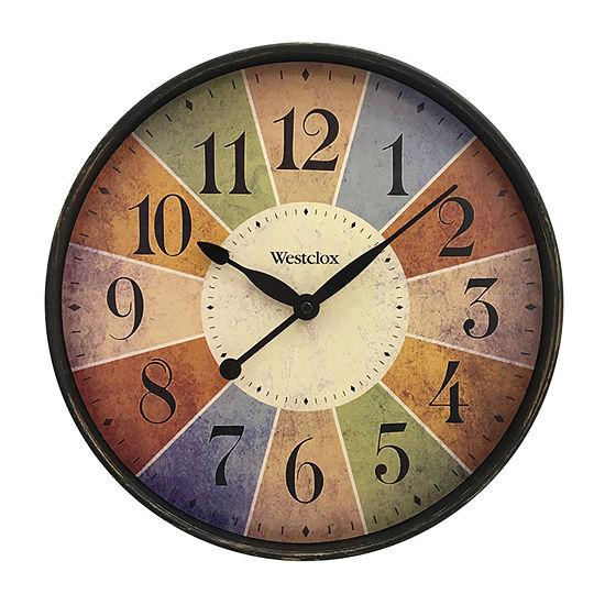 """Westclox 12"""" Multicolor Quartz Wall Clock"""