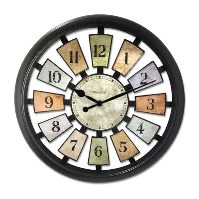 "Westclox 18.5"" Colored Panel Wall Clock"