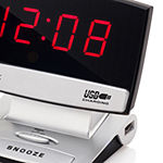 "Westclox 0.9"" LED Alarm Clock with USB Charging"