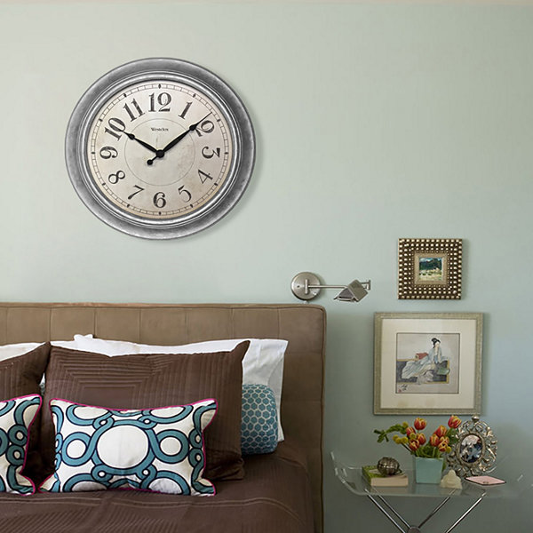 "Westclox 15.5"" Galvanized Wall Clock"