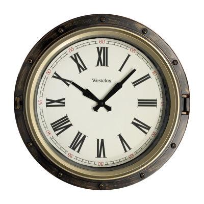 """Westclox 15.75"""" Nautical Wall Clock"""