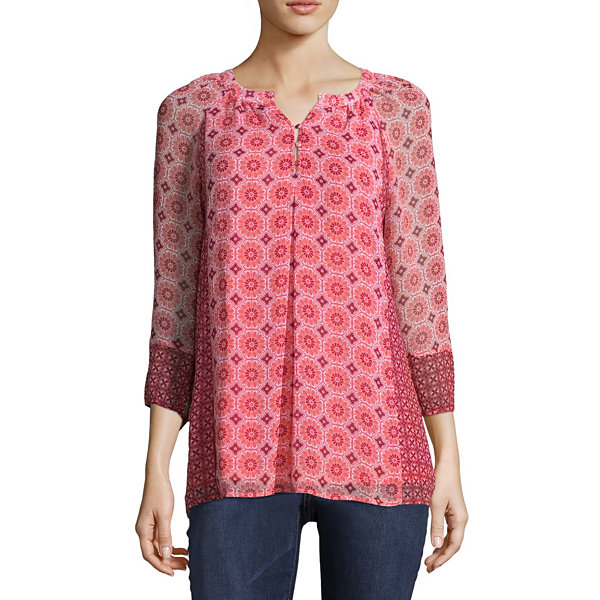 St. John's Bay Henley Blouse - Tall