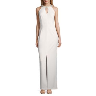 Scarlett Sleeveless Beaded Evening Gown - Tall