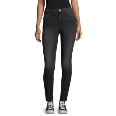Arizona High Rise Skinny Fit Jeggings-Juniors