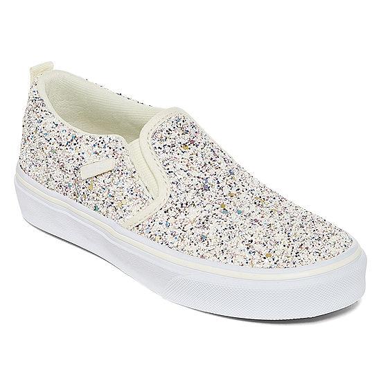 Vans Asher Girls Skate Shoes Lace Up Big Kids