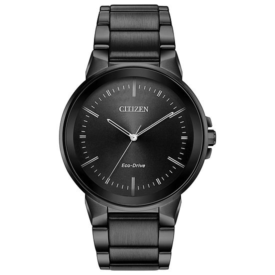 Citizen Axiom Mens Gray Stainless Steel Bracelet Watch-Bj6517-52e