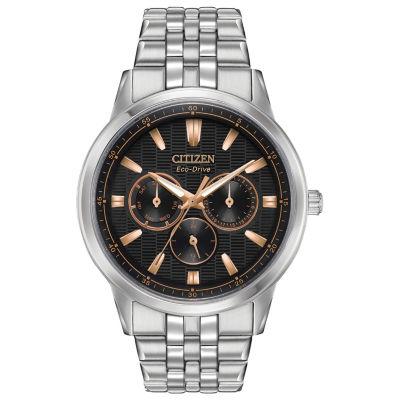 Citizen Mens Silver Tone Bracelet Watch-Bu2070-55e