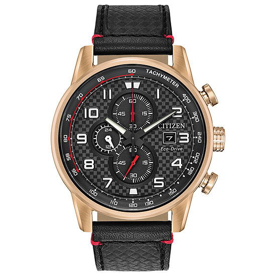 Citizen Primo Mens Black Leather Strap Watch-Ca0683-08e