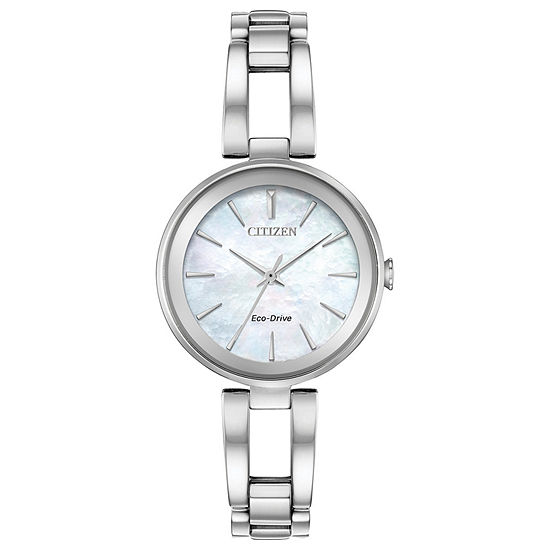 Citizen Axiom Womens Silver Tone Stainless Steel Bracelet Watch-Em0630-51d
