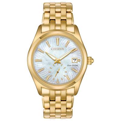 Citizen Womens Gold Tone Bracelet Watch-Ev1032-51d