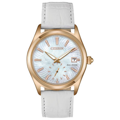 Citizen Womens White Strap Watch-Ev1033-08d