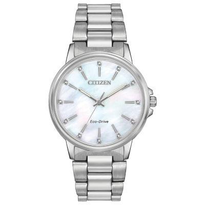 Citizen Womens Silver Tone Bracelet Watch-Fe7030-57d