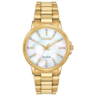 Citizen Womens Gold Tone Bracelet Watch-Fe7032-51d