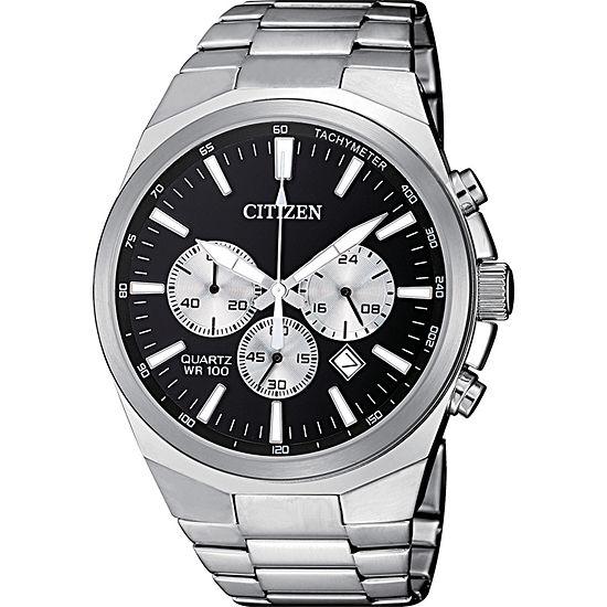 Citizen Quartz Mens Silver Tone Stainless Steel Bracelet Watch-An8170-59e