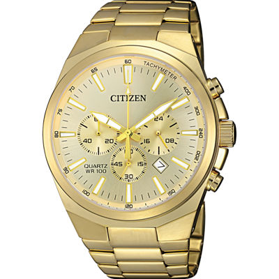 Citizen Quartz Mens Gold Tone Bracelet Watch-An8172-53p