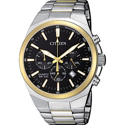Citizen Quartz Mens Two Tone Bracelet Watch-An8174-58e