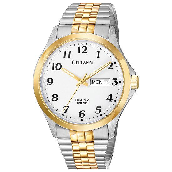 Citizen Quartz Mens Two Tone Stainless Steel Bracelet Watch-Bf5004-93a
