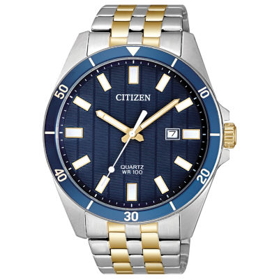 Citizen Quartz Mens Two Tone Bracelet Watch-Bi5054-53l
