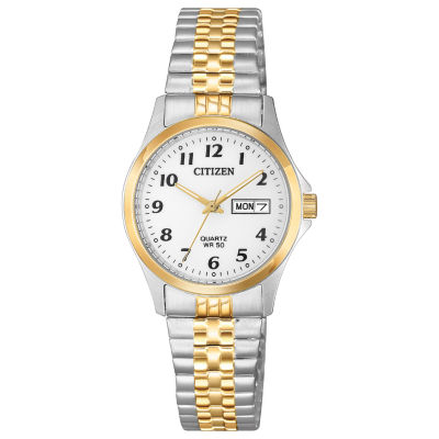 Citizen Quartz Womens Two Tone Bracelet Watch-Eq2004-95a
