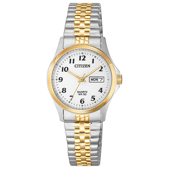 Citizen Quartz Womens Two Tone Stainless Steel Bracelet Watch-Eq2004-95a