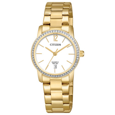 Citizen Quartz Womens Gold Tone Bracelet Watch-Eu6032-85a