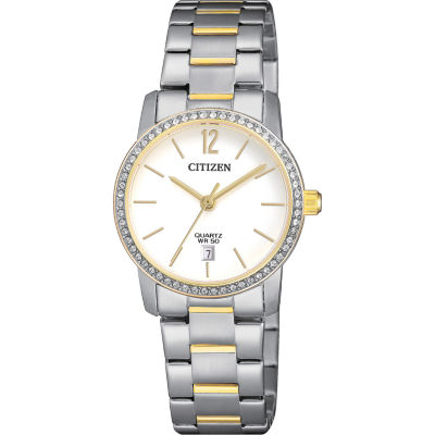 Citizen Quartz Womens Two Tone Bracelet Watch-Eu6038-89a