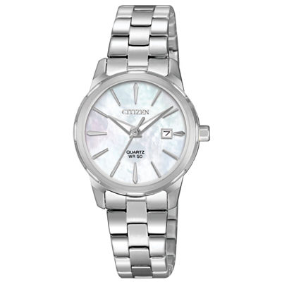 Citizen Quartz Womens Silver Tone Bracelet Watch-Eu6070-51d