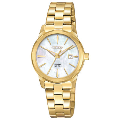 Citizen Quartz Womens Gold Tone Bracelet Watch-Eu6072-56d