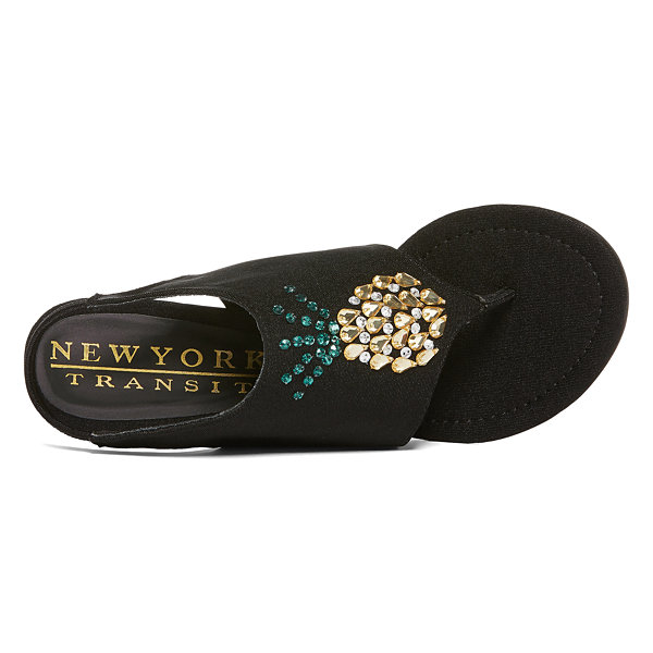 New York Transit Fancy Fruit Womens Wedge Sandals