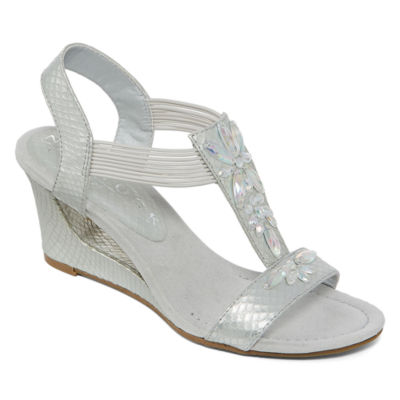 New York Transit News Worthy Womens Wedge Sandals