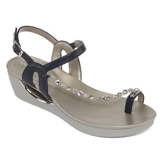 Andrew Geller Womens Casidy Wedge Sandals