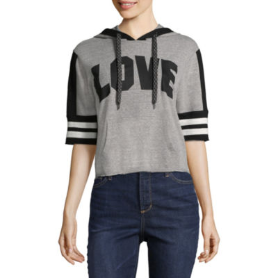 Elbow Sleeve Varsity Love Sweatshirt-Juniors