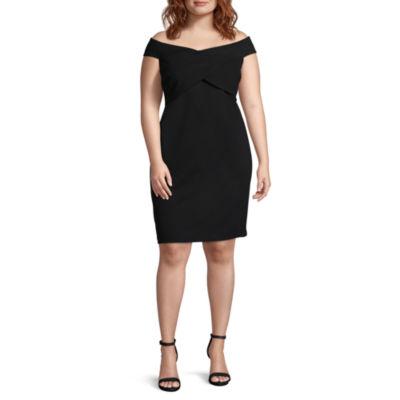 Social Code Sleeveless Bodycon Dress-Juniors