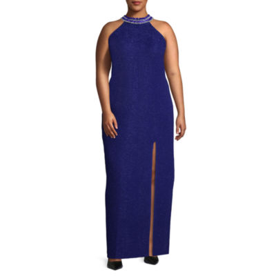 Social Code Sleeveless Embellished Evening Gown-Juniors Plus
