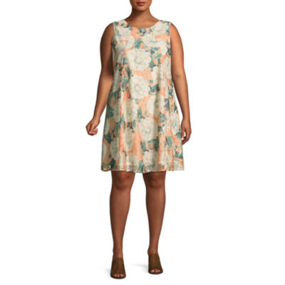 Danny & Nicole Sleeveless Trapeze Dress - Plus